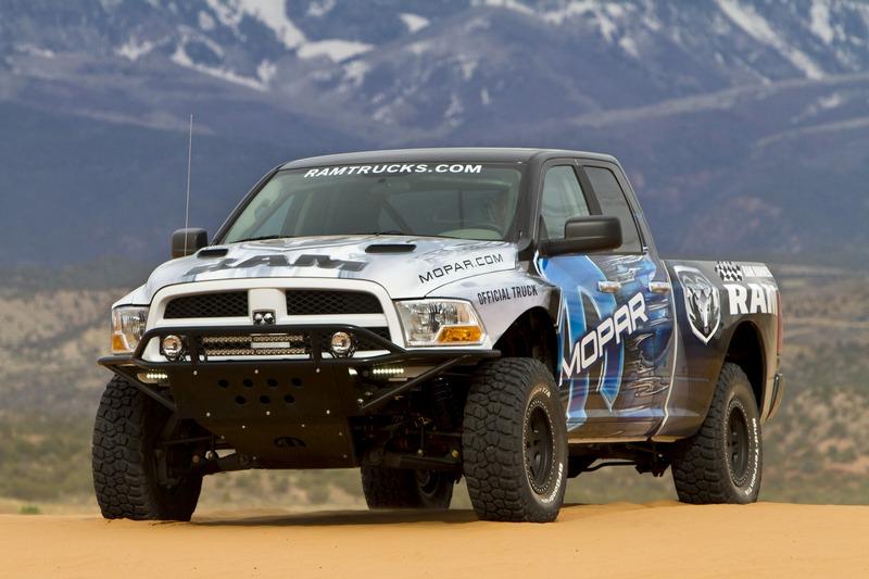 Turning Dodge trucks into desert racers.