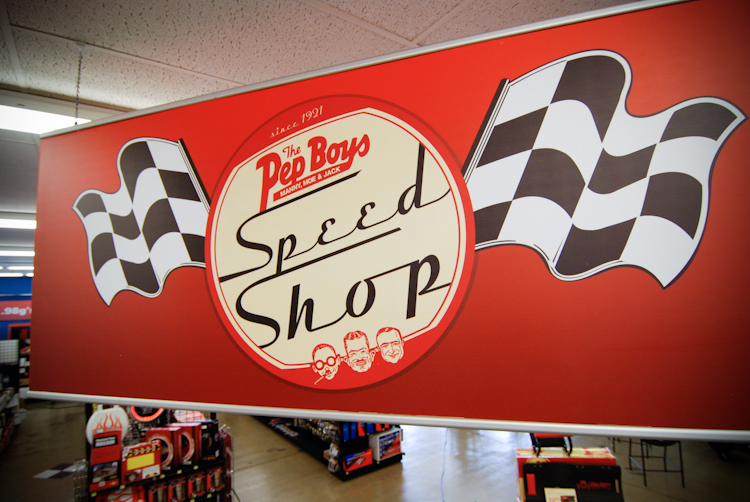 Even at 90, there's no slowing The Pep Boys—or the chain's new in-store Speed Shops.