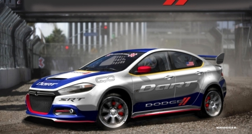 Dodge Enters Global RallyCross with all-new Dodge Dart and Travis Pastrana.