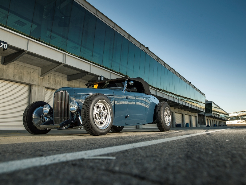 The Brizio Street Rods-built roadster sits low and drives fast.