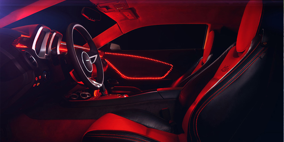 Oracle red interior