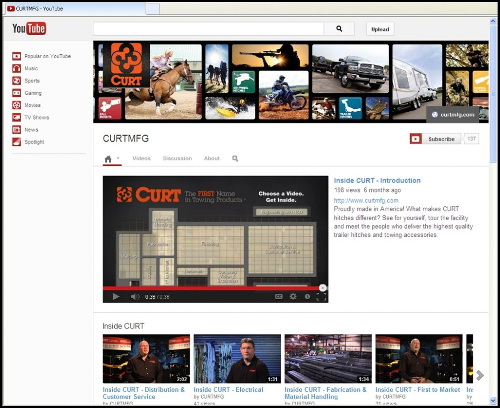 Curt YouTube site