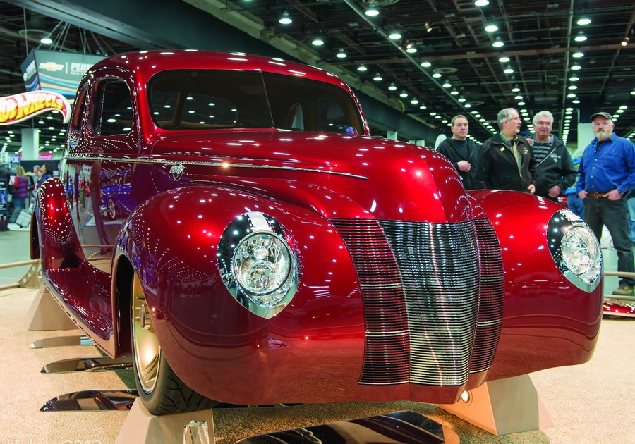 PPG-painted '40 Ford coupe is the 2013 Ridler Award winner.