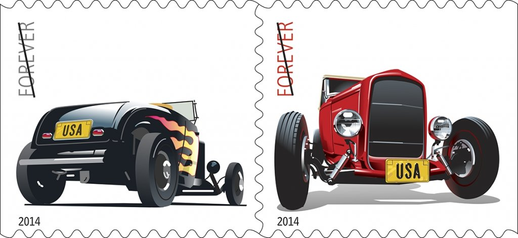 Hot Rod Stamp