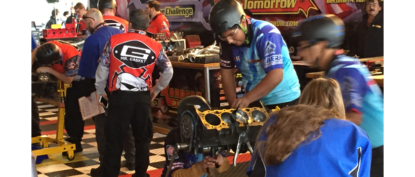 Hot Rodders of Tomorrow competing during the 2015 SEMA Show