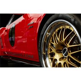 Big Red Camaro features custom Forgeline wheels