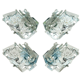 Reproduction door latches for 1955-57 Tri-Five Chevy and 1958-60 Impala/full-size models.