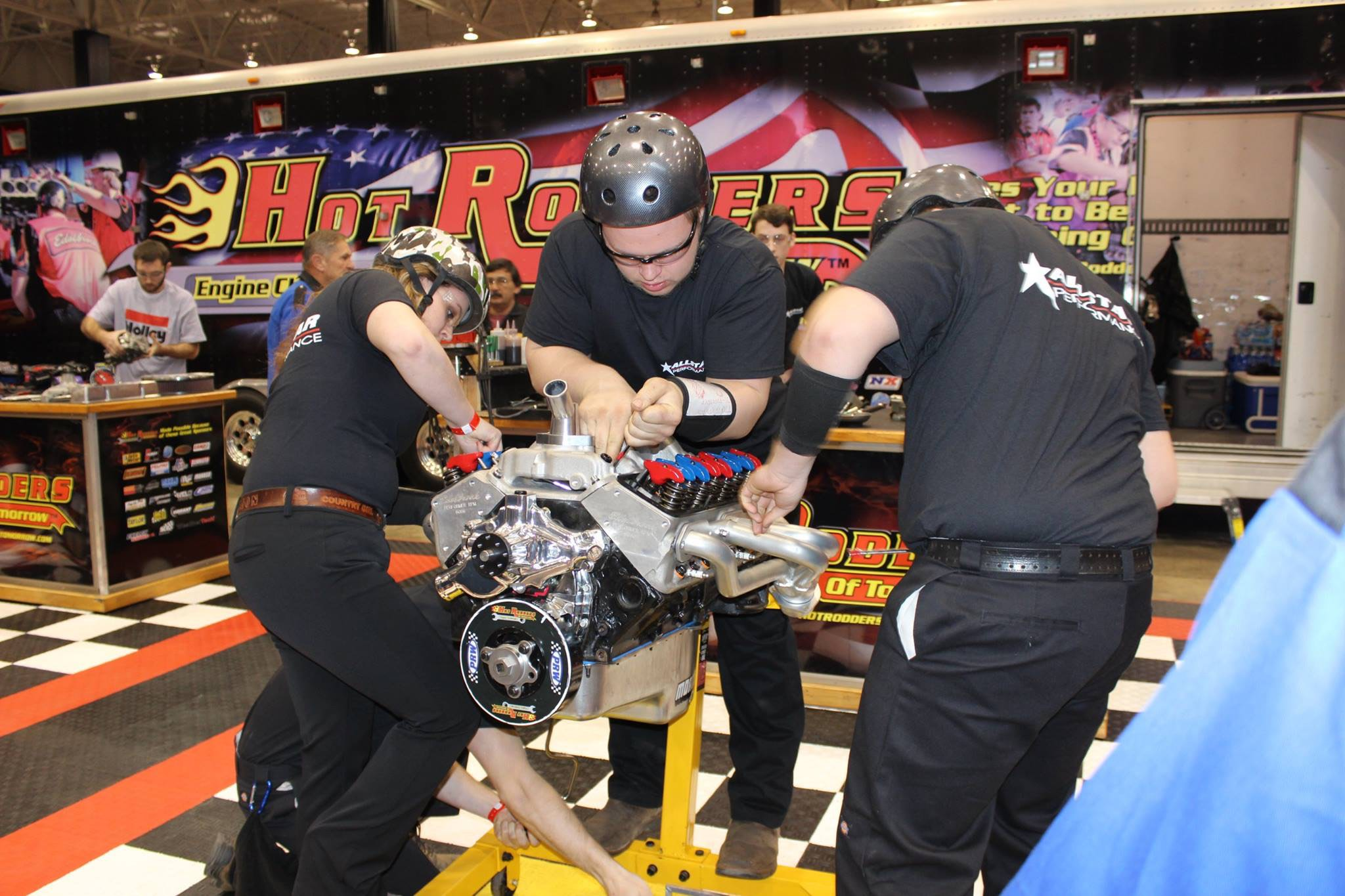 Team Allstars, winners of the latest Hot Rodders of Tomorrow event, within the grips of competition