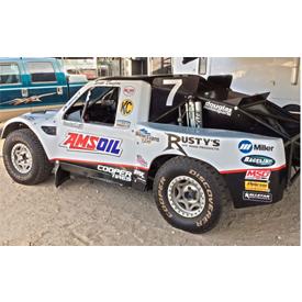 The No. 7 AMSOIL/Cooper Tire/Walker Evans Racing PRO-4 race truck