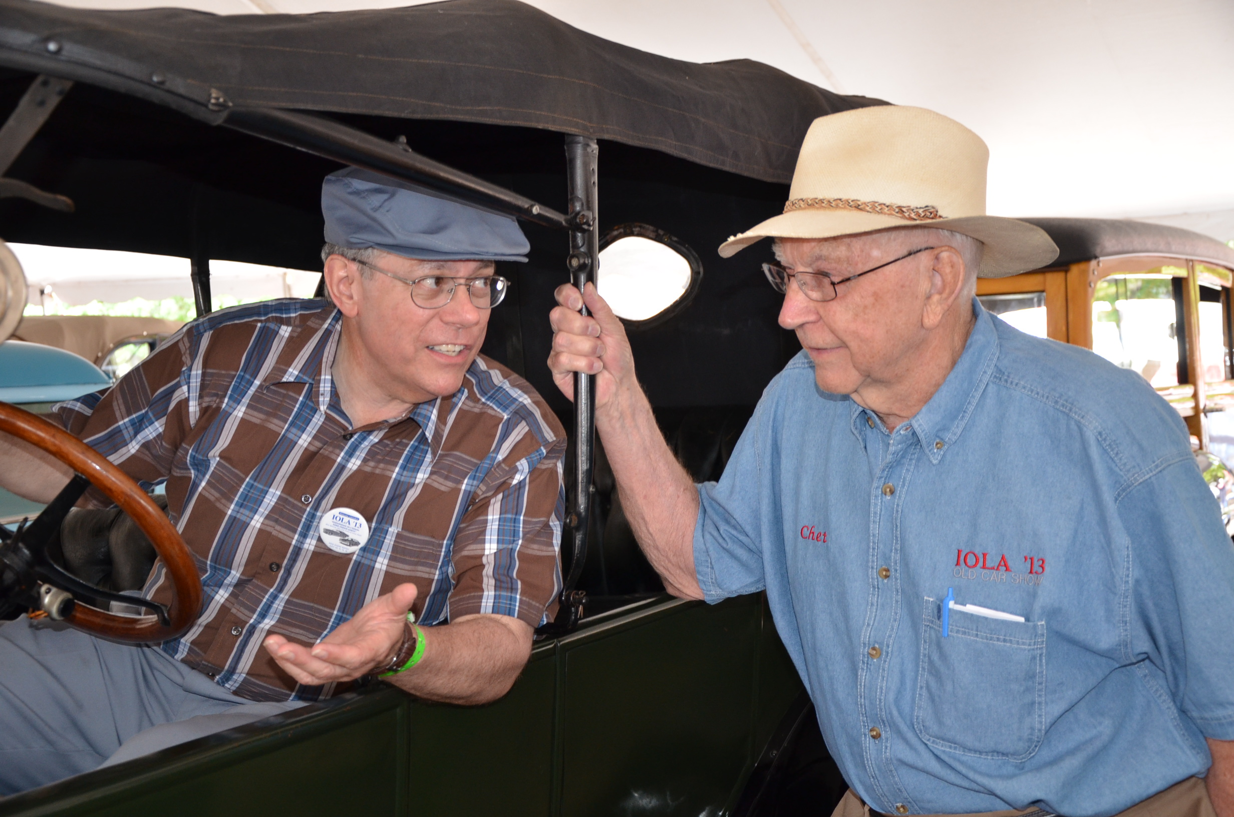 Chet Krause with automotive writer and historian Gerald Perschbacher of St. Louis