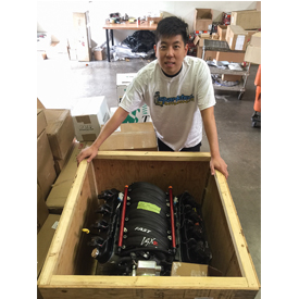 James Kang with his new Duttweiler Performance LS3 Motor