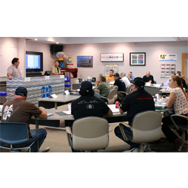 Photo from PPG's two-day restoration seminar at the company's Business Development Center in Wixom, Michigan