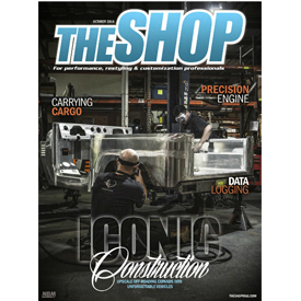 THE SHOP October issue cover features an image from inside Chatsworth, California-based ICON 4x4