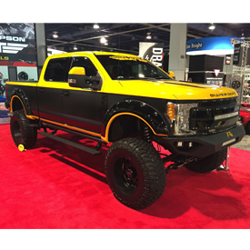 Project Tall Boy, the custom 2017 Ford F-250 Super Duty built by Mike Duval of X-Treme Toyz and featured in the Mickey Thompson