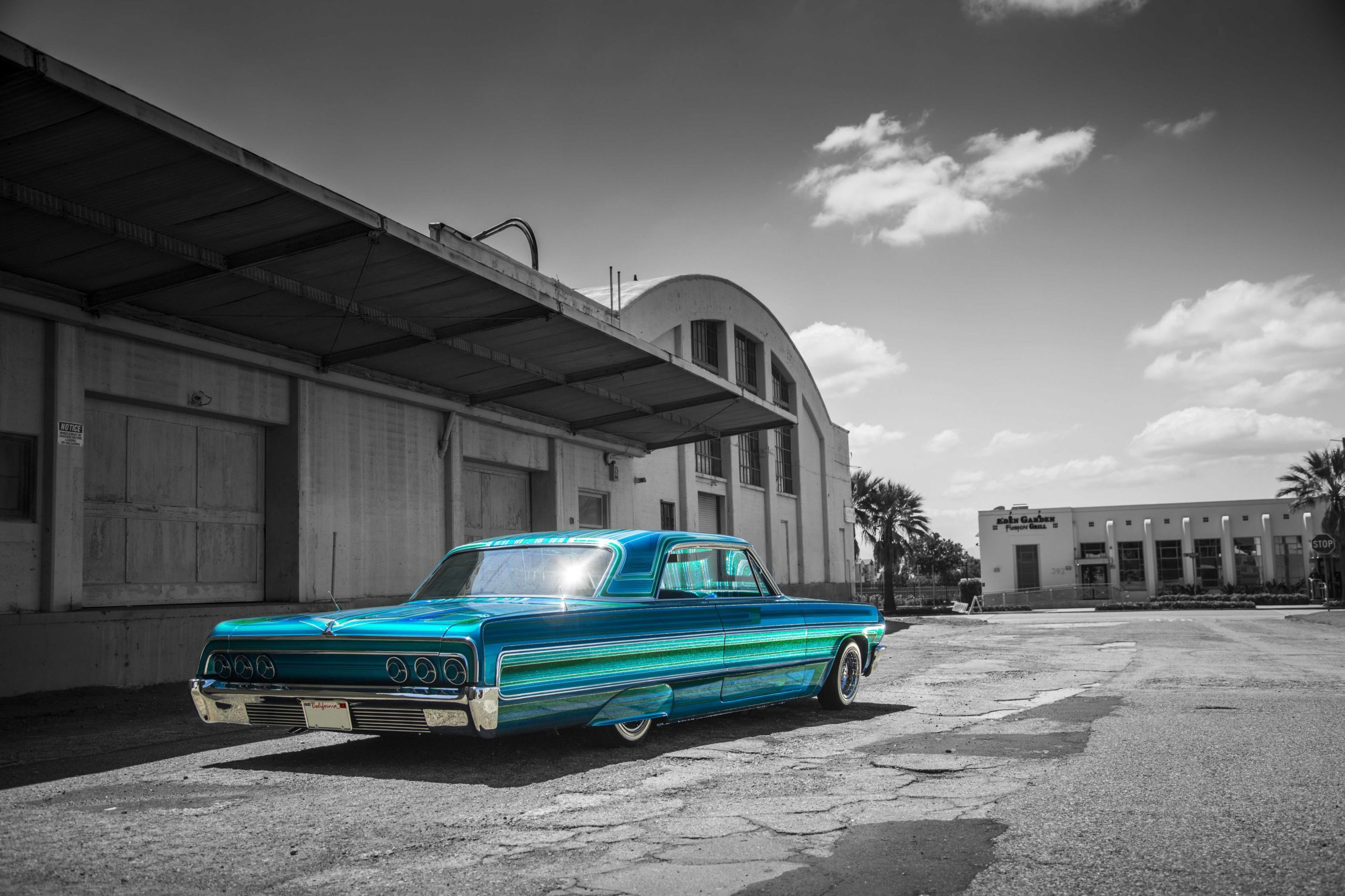 This 1964 Chevy Impala is the work of Albert De Alba, Jr., of Cal Blast in Upland, California. Alba is one of the 12 painters w