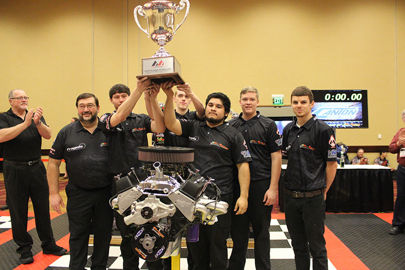 Team Fragola from Peach County High School in Georgia is the first team to win the Parts Pro Excellence Cup. The team is picture