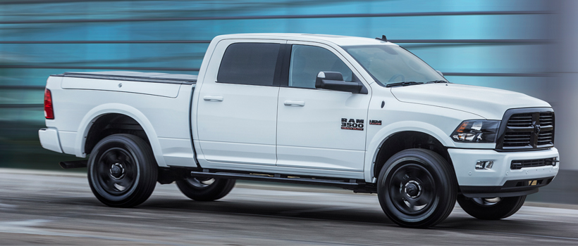 Ram debuted new, special-edition Night packages for Ram 2500 and 3500 HD pickups during the 2017 Chicago Auto Show