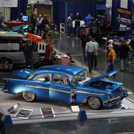 Custom Tri-Five Chevy seen at the 2016 Sacramento Autorama
