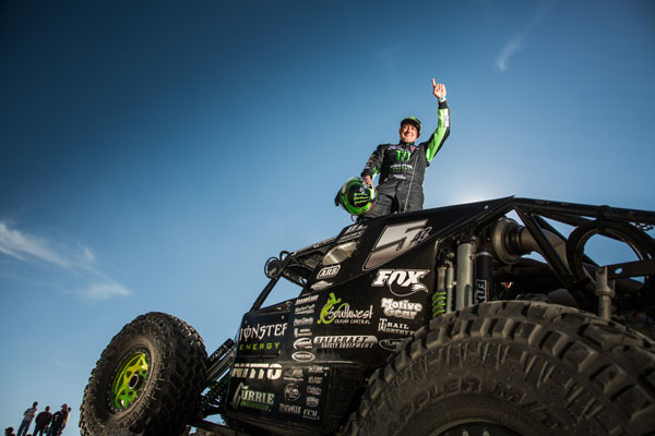 Shannon Campbell after winning the 2017 King of the Hammers