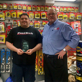 James O'Neal of Race Fittings (left) with Jerry Simpson of Parts Pro (right)
