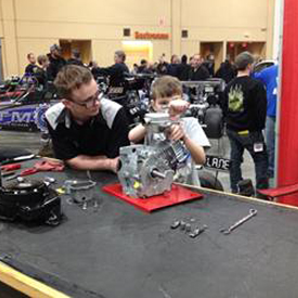 The Junior Engine Challenge presented by Racequip will be featured at Hot Rodders of Tomorrow JR Dragster Series & the Midwest J