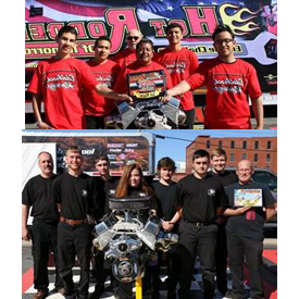 Team Edelbrock (top) from Katella High School from Anaheim, California came in first, registering a 21:43 time. Team K&N (bottom
