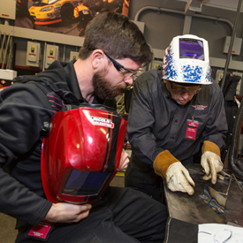 Lincoln Electric has trained welding students for 100 years, including during WWI and WWII. The company is currently working to
