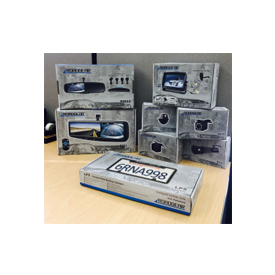 Product packaging by RoadGear Mobile, the new brand offered by Rydeen Mobile Electronics