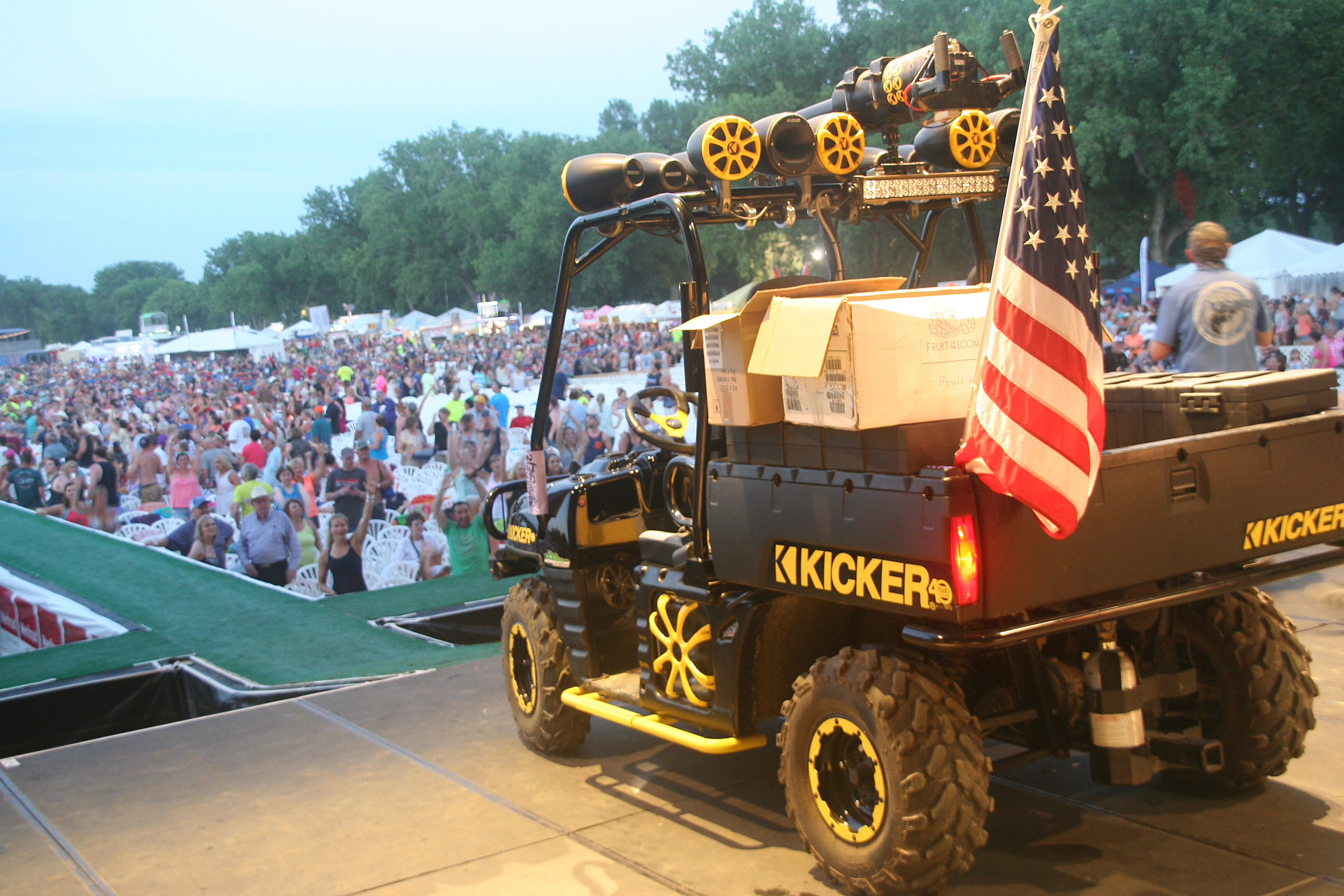 KICKER is serving as title sponsor of the KICKER Country Stampede for the fifth straight year