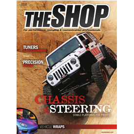 THE SHOP magazine cover for October. Can you believe the Project Vehicle Showcase issue comes next month, already?