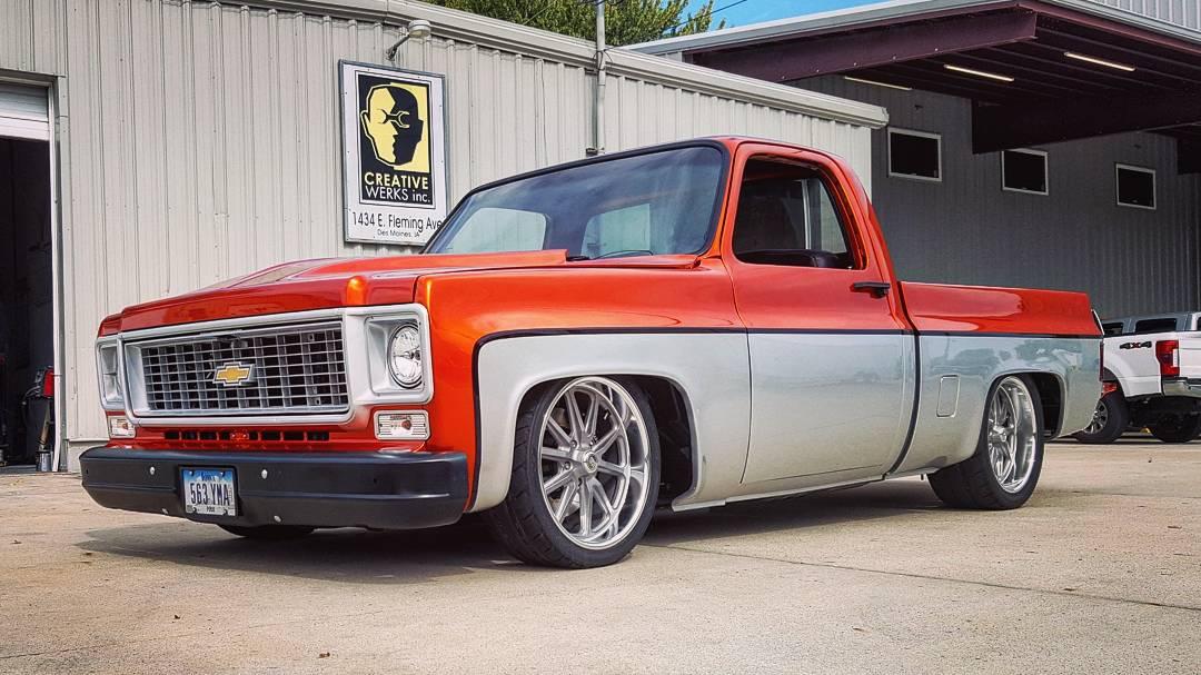 Preston Folkestad's custom 1973 Chevrolet C10, nicknamed Buck The Truck