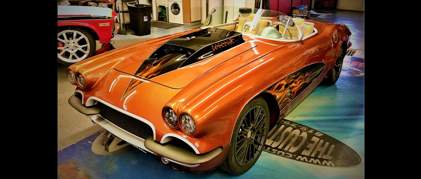 """1962 Corvette, named """"Copper Topless"""", customized by The Custom Shop and appearing at the Oct. 31-Nov. 3 SEMA Show in Las Vegas"""