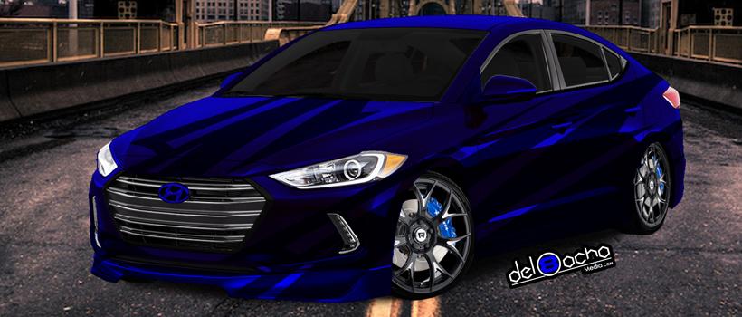 Digital rendering of FearOne's 2018 Hyundai Elantra Turbo Sport