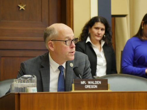 Rep. Greg Walden (R-Oregon) voted in support of the RPM Act during its first markup session in the House Subcommittee on the Env