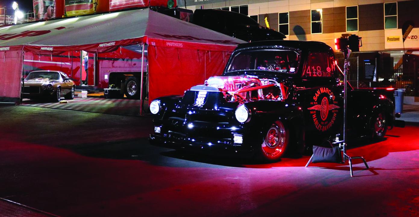 1954 land speed quad turbo Duramax diesel Chevrolet truck customized by Johnson's Hot Rod Shop