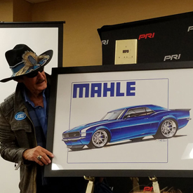 The King Richard Petty himself appeared at MAHLE's press conference at the PRI Show on Thursday at the Indianapolis Convention C