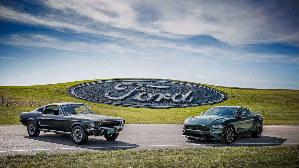 50 years of history - original Bullitt Mustang meets new Mustang. Courtesy of HVA, Casey Maxon
