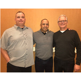 Alpine Electronics honored Manny Moncada of Autohaus Automotive Solutions as Expediter of the Year for 2017. From left to right: