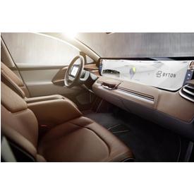 The interior of the BYTON vehicle set to debut at CES