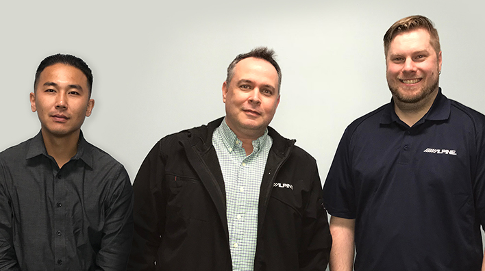 Alpine has recently hired (L to R)  Christopher Sinh, Tory Sanders and Cory Stocklin as brand managers