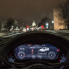 More than 600 intersections in Washington, D.C. support Audi's time-to-green feature of Traffic Light Information.