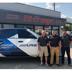 Alpine's fully loaded Ram 1500 visited at Hi-Fi Cruisin' in Hattiesburg, Missouri. Left to right: Larry Sellars, Hi-Fi Cruisin';