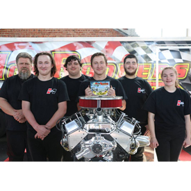 Team Hurst from Sequoyah High School in Soddy Daisy, Tennessee clocked a time of 23:54 during the Hot Rodders of Tomorrow compet