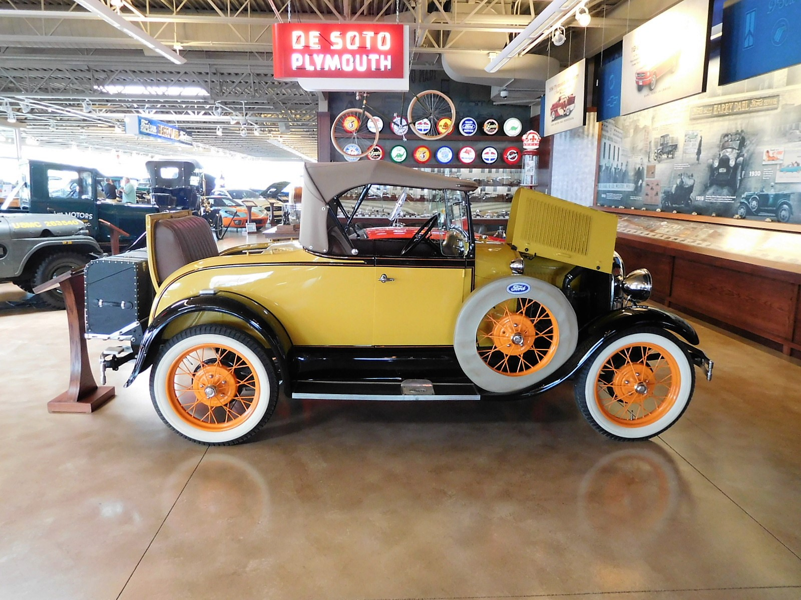 Vehicle on display in the Dahl Automotive Museum, located in La Crosse, Wisconsin