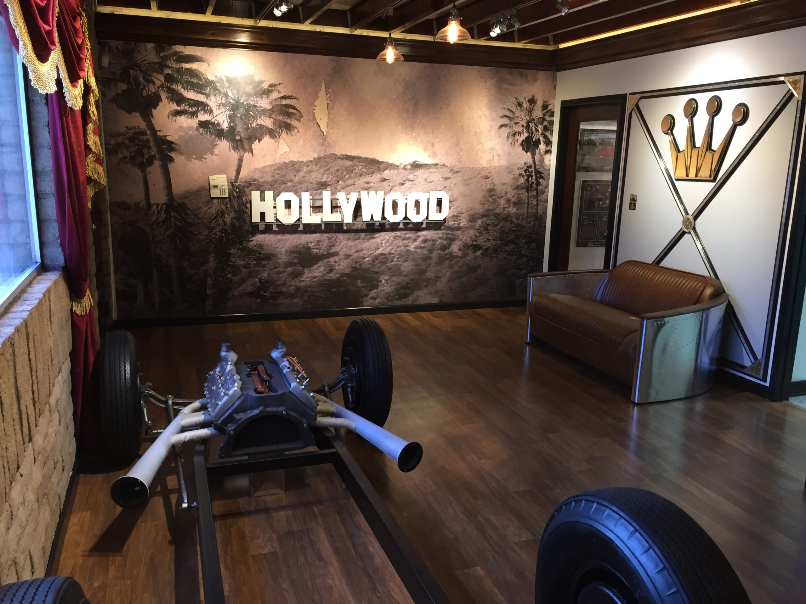 The new Hollywood Hot Rods is compact but there's room enough for offices and a meeting space above the workshop that accommodat