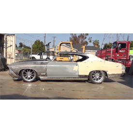 The before image of the 1969 Chevrolet Chevelle set to be featured in the ididt booth at this year's SEMA Show. See photos of th