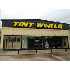 The new storefront of the Tint World Automotive Styling Center in Missouri City, Texas