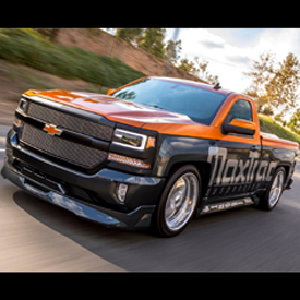 The MaxTrac Suspension Chevy 1500 LT will be on display near KICKER's XRV area at the Sand Sports Super Show in Costa Mesa, Cali