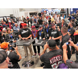 """The cast of """"Street Outlaws"""" will once again be at the center of attention in the KICKER SEMA booth"""