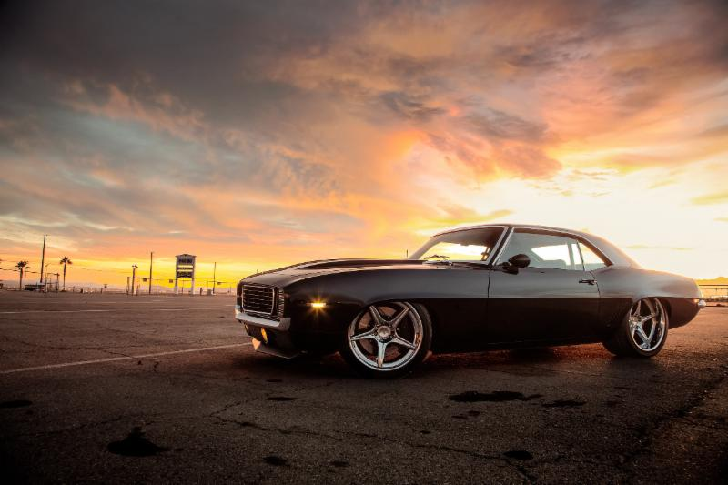 The 1969 Chevy Camaro named TUX—built by Kyle Tucker, president of Detroit Speed—won the SEMA Battle of the Builders contest las